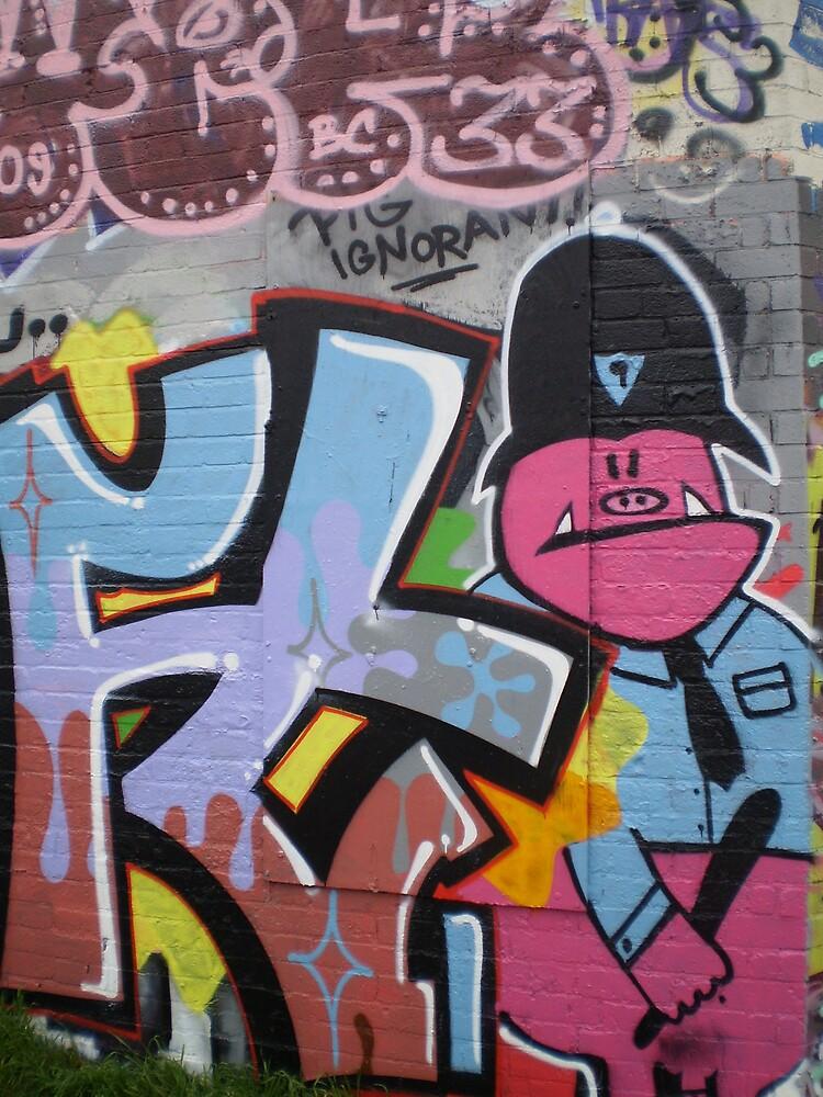 Old School Graffiti, Hackney Wick, London by runjoerun
