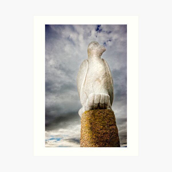 Stone Bird on Jetty Art Print
