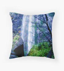 Blue Cascade Throw Pillow