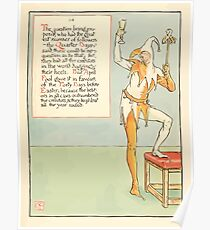A Masque of Days - From the Last Essays of Elia 1901 illustrated by Walter Crane 41 - Quarter Days, April Fool, Forty Days, Easter Poster