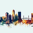 Jacksonville Florida Skyline by Michael Tompsett