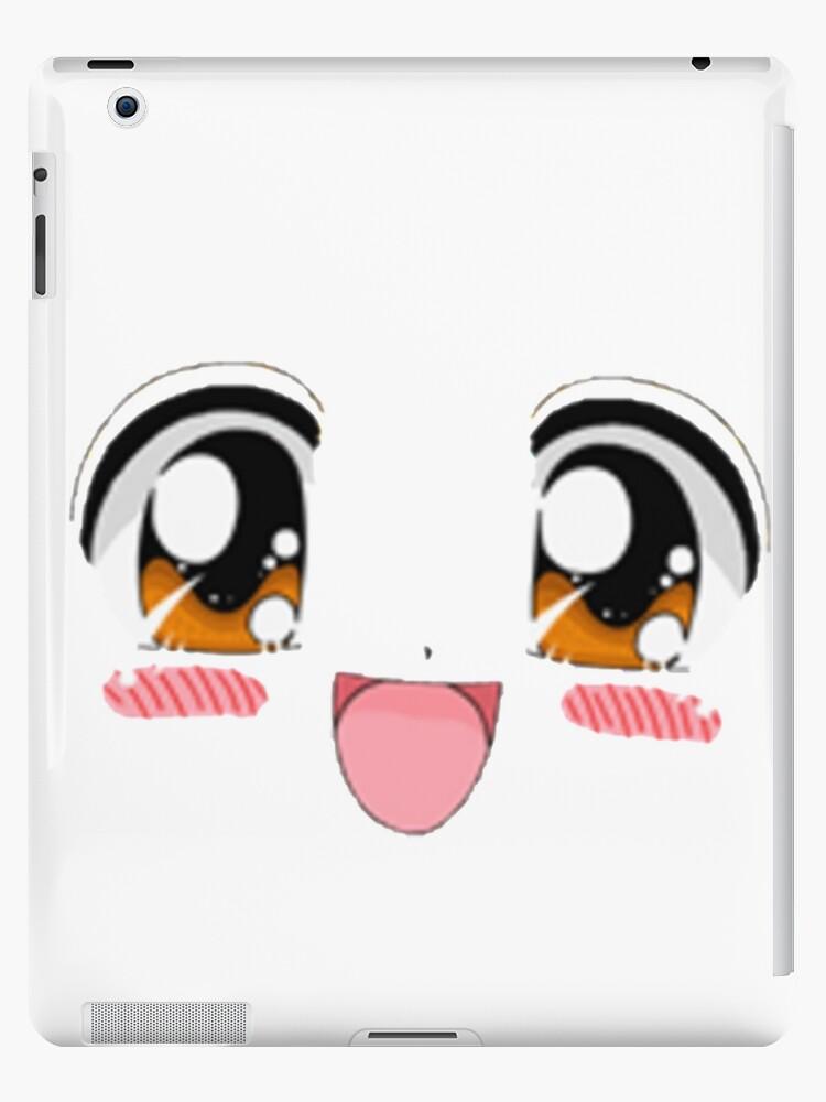 Blushing Anime Smiling Face Ipad Case Skin By Saclothing