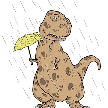 T Rex under the rain by supertrump