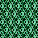 GREEN GEOMETRY PATTERN by fuxart