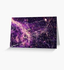 Purple Universe - Cool Glamour Marble Style Design  Greeting Card