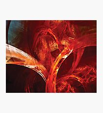 A Tangle of Red Energy Photographic Print