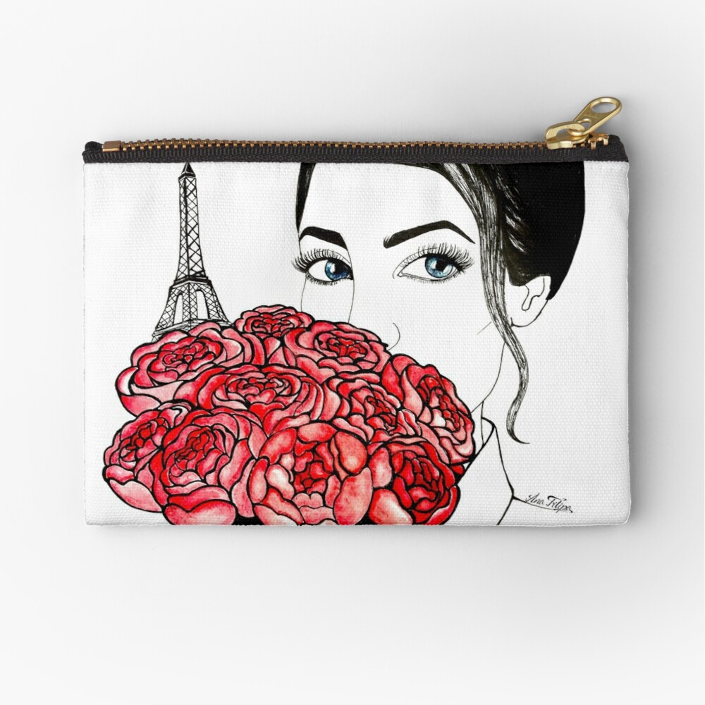 Love Paris  Zipper Pouch