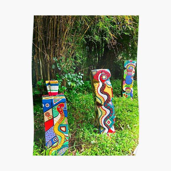 Colourful Garden Art Poster