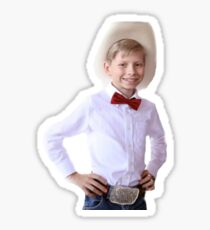yodeling kid Sticker