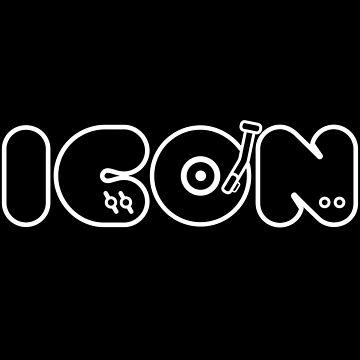 DJ Dance EDM Music Icon Boss Hero by ellumination