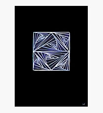Infinity Matrix Line Art Photographic Print