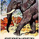 Serengeti National Park Tanzania Vintage Elephant Africa by MyHandmadeSigns