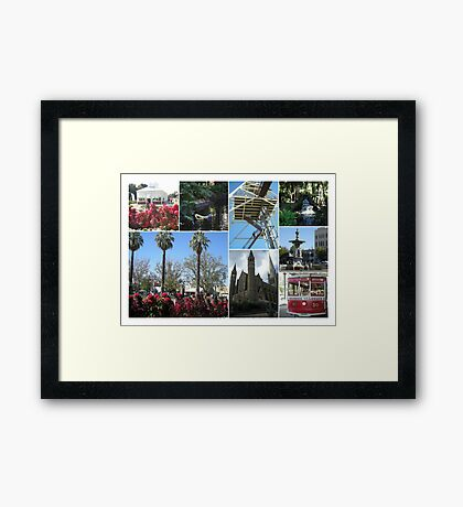 Bendigo Collage Framed Print