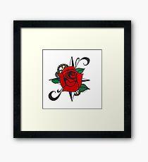Steampunk Rose Framed Print