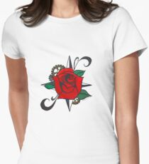 Steampunk Rose Women's Fitted T-Shirt