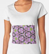 Abstract flora purple print II Women's Premium T-Shirt