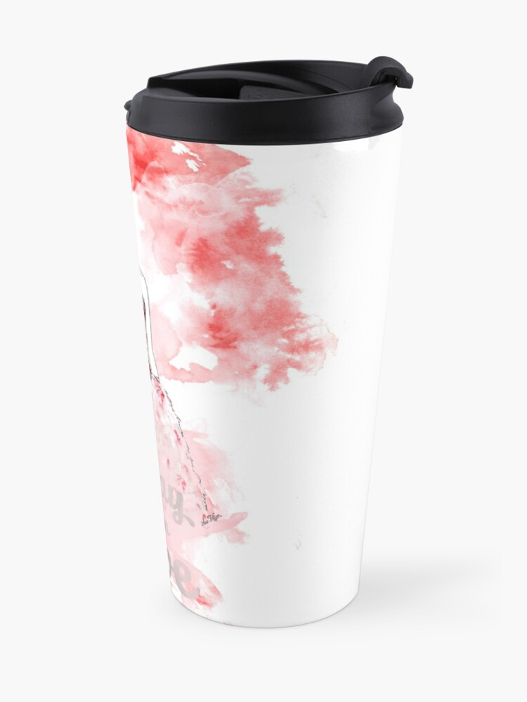 Alternate view of Friday I am in Love Red Travel Mug