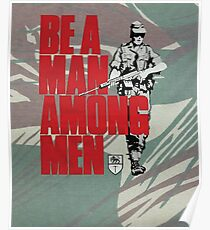 Be a Man Among Men Rhodesian Army Recruitment Poster on Rhodesian Camouflage Print Poster