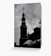 silhouette - snow covered Greeting Card