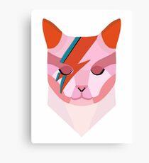 David Bowie Cat Canvas Print