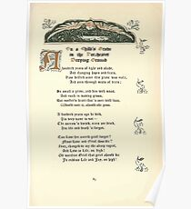 The Old Garden and Other Verses by Margaret Deland and Wade Campbell, Illustrated by Walter Crane 1894 205 - On a Child's Grave in the Dorchester Burying Ground Poster