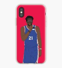 "Masked Joel Embiid Says ""Shhh"" iPhone Case"