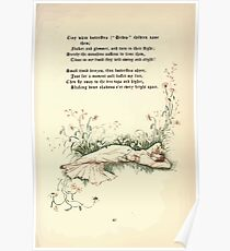 The Old Garden and Other Verses by Margaret Deland and Wade Campbell, Illustrated by Walter Crane 1894 117 - Tiny White Butterflies Poster