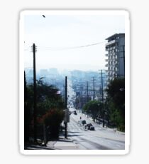 Hollywood Cityscape Photography Sticker