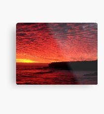 Santa Cruz on Fire Metal Print