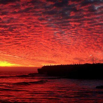 Santa Cruz on Fire by maximusvibe
