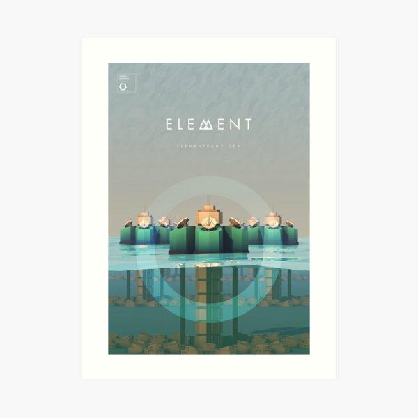 Element Water Defence Unit Artwork Art Print