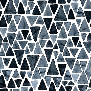 Inky triangles pattern by DariaNK