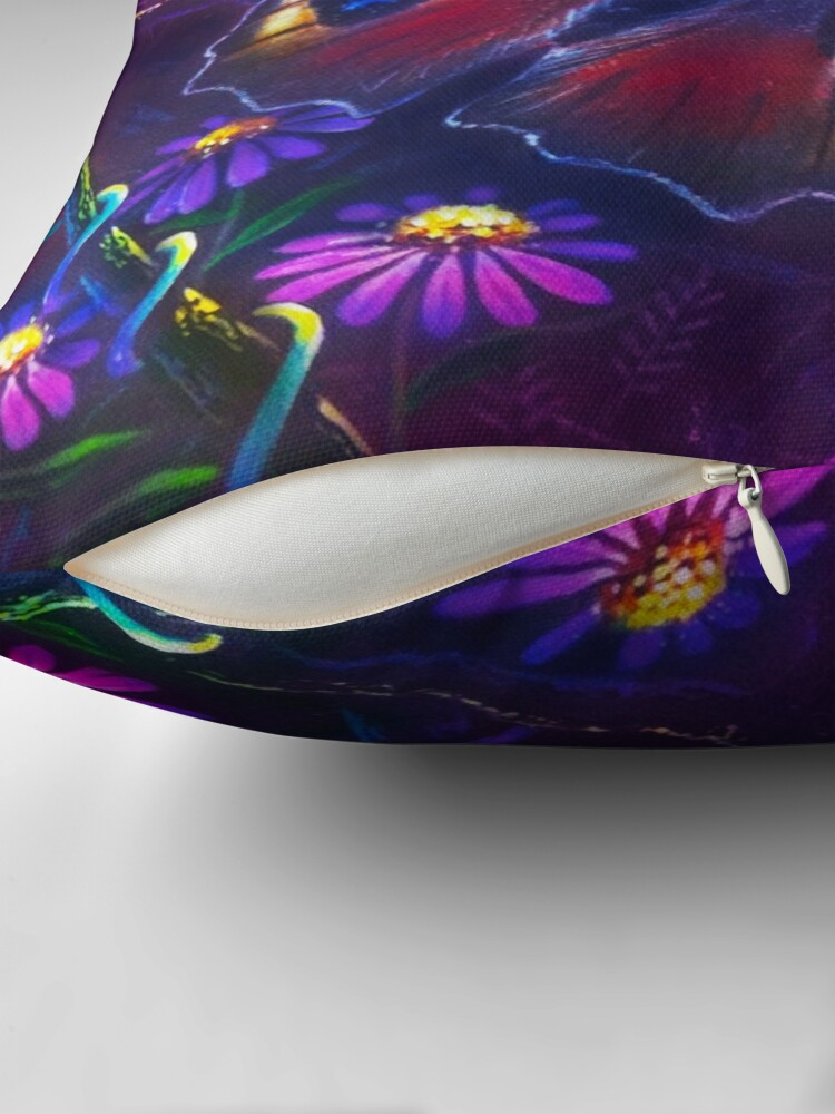 Alternate view of Peacock Butterfly Throw Pillow
