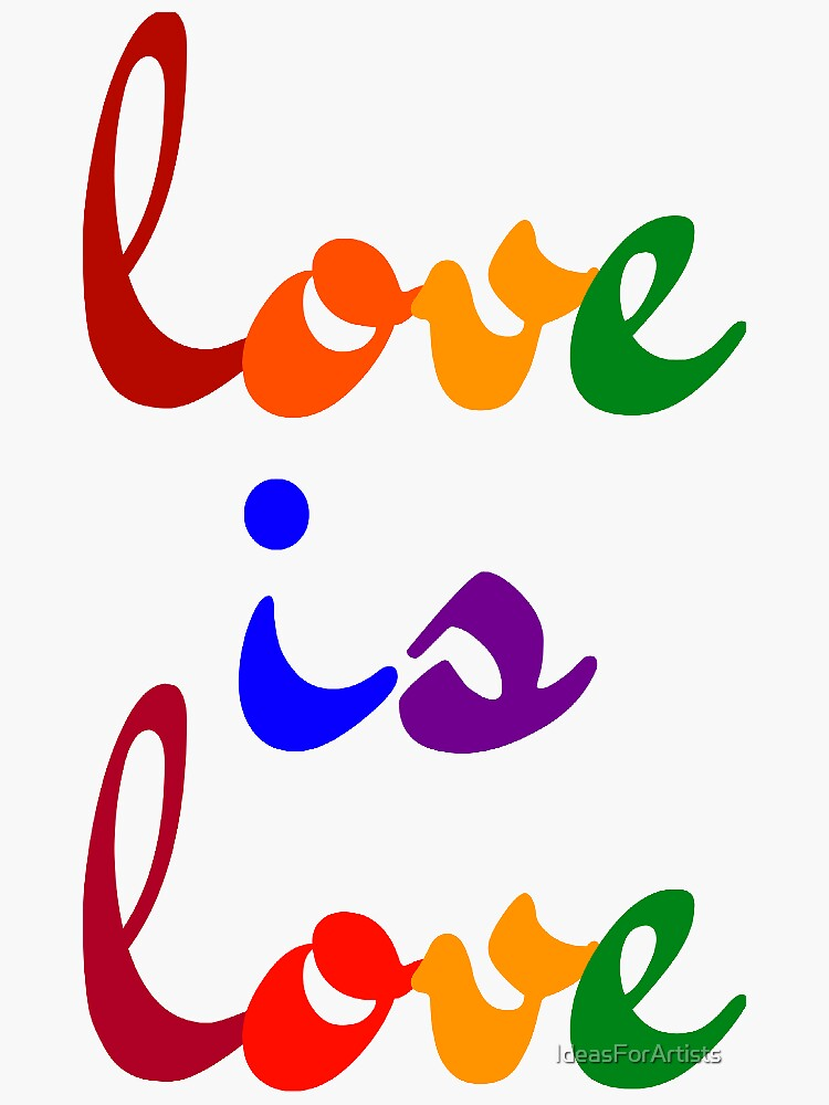 love is love rainbow by IdeasForArtists