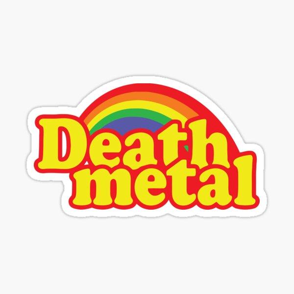 Death Metal Parody Sticker