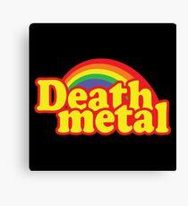 Death Metal Parody Canvas Print