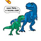 Funny Dinosaurs with Doomsday Asteroid by wmr2