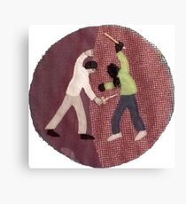 Two people fighting Canvas Print
