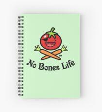 No Bones Life Logo - Tomato Guy Skull and Crossbones Spiral Notebook
