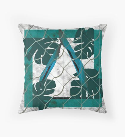 The Bond of Green Leaves Throw Pillow