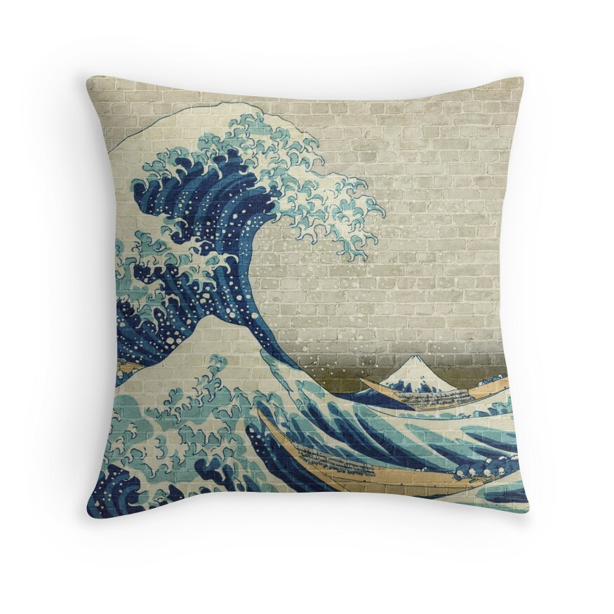 Brick Wall Painting Japanese Great Wave off Kanagawa - Urban Artist