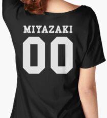 Miyazaki PYREX (white text) Women's Relaxed Fit T-Shirt