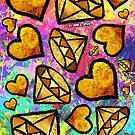 Diamonds & Hearts by johnspainart