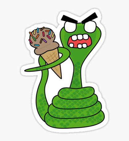 angry zombie cobra Glossy Sticker