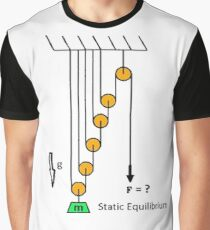 Problem, Mechanics, Newton's laws, f=mg, cords, cord, pulley,  weight Graphic T-Shirt