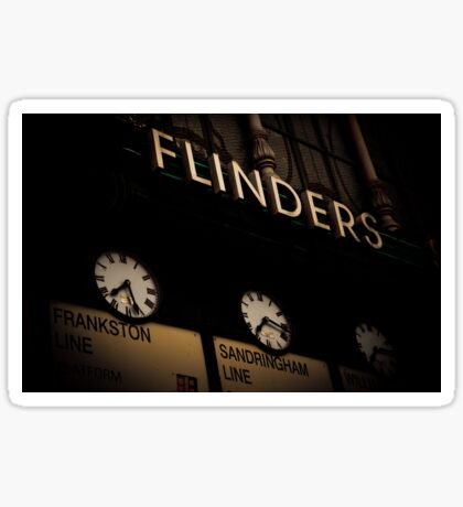 Flinders st station clocks Sticker