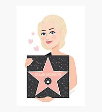 Gillian Anderson - Hollywood Walk of Fame Photographic Print