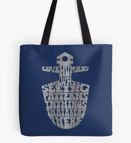 I Love Humans Tote Bag