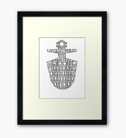 I Love Humans Framed Print