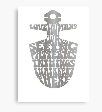 I Love Humans Metal Print